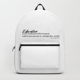 Education #minimalism Backpack