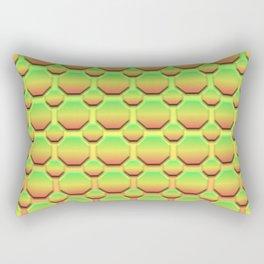 Octagons - Tricolor Rectangular Pillow