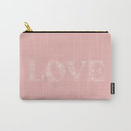 Pink LOVE Flowers Carry-All Pouch