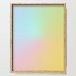 Candy Pastel Rainbow Gradient #abstract  Serving Tray