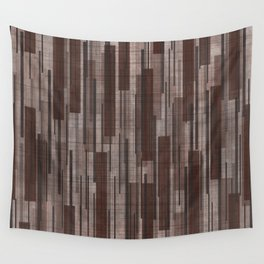 Brown Line Grid Wall Tapestry