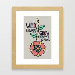 W/LDFLOWER Framed Art Print
