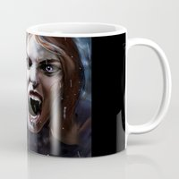 bride Mugs featuring Bride by Lily Fitch