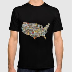 Greetings From MEDIUM Black Mens Fitted Tee