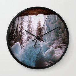Hanging Lake Spouting Rock at Glenwood Canyon Glenwood Spring Area Colorado. Wall Clock
