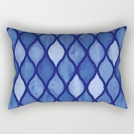 Calm Blue Wet Pastels Inspired by Waves and Tiny Seashells Rectangular Pillow