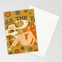 Take The Trip Orange Stationery Cards