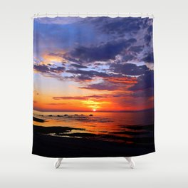Between Sky and Earth Shower Curtain
