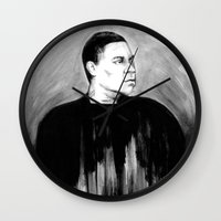 snl Wall Clocks featuring DARK COMEDIANS: Tracy Morgan by Zombie Rust