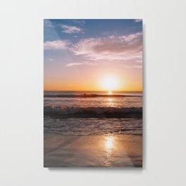Sunset Surfers IV Metal Print