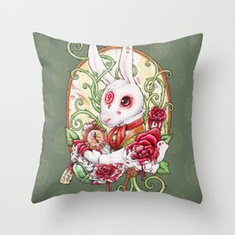 Rabbit Hole Throw Pillow