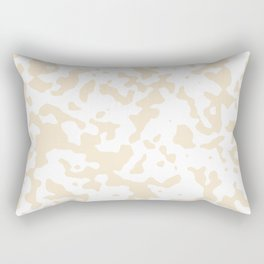 Spots - White and Champagne Orange Rectangular Pillow