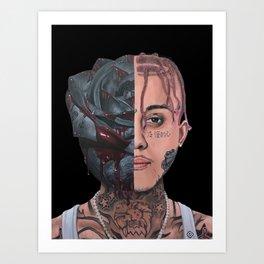 "Lil Skies ""Dark Rose"" Art Print"
