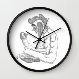The Defamation of Normal Rockwell I (NSFW) Wall Clock
