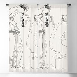 Grecian lady at the bath from An  of the Egyptian Grecian and Roman costumes by Thomas Baxter (1782- Blackout Curtain