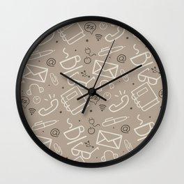 Work Mode (Coffee) Wall Clock