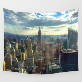 View Of New York City Wall Tapestry