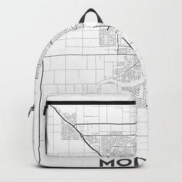 Minimal City Maps - Map Of Modesto, California, United States Backpack