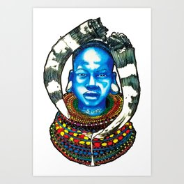 Maasai Tribal Warrior - Little Ghetto Boys Art Print