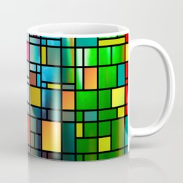 Abstract Modern Art Grid Pattern Coffee Mug
