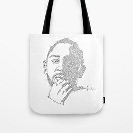 Kendrick Lamar Portrait: #blacklivesmatter Tote Bag