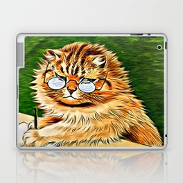 ORANGE TABBY CAT - Louis Wain's Cats Laptop & iPad Skin