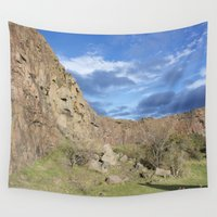 edinburgh Wall Tapestries featuring Salisbury Craigs Edinburgh 1 by RMK Creative