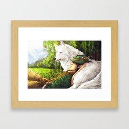 Janus And Snowshadow Framed Art Print