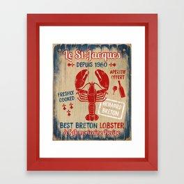 Le St-Jacques Lobster Shack Framed Art Print
