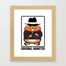 Armed Hampster - Funny Animals Framed Art Print