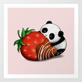 Pandaberry Art Print