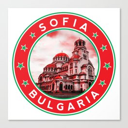 Sofia, Bulgaria, Alexander Nevsky Cathedral, circle, red Canvas Print