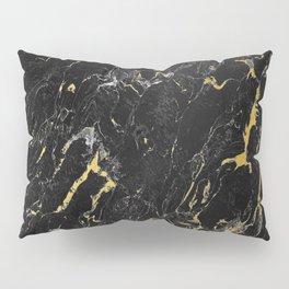 Gold Flecked Black Marble Pillow Sham