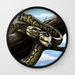 Carpet Python Art Wall Clock