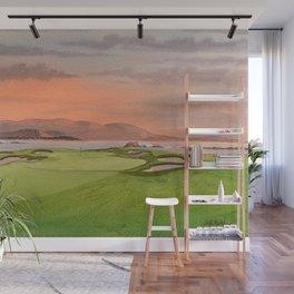 Pebble Beach Golf Course Hole 17 Wall Mural