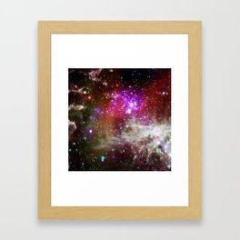 NGC 281 nebula with active star formation (NASA/Chandra) Framed Art Print