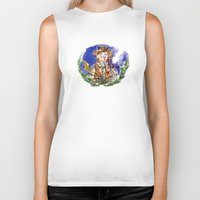 hobbit Biker Tanks featuring Hobbit by Kris-Tea Books