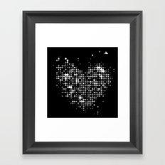 Heart2 Black Framed Art Print