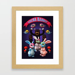 Lucha Rabbit Framed Art Print