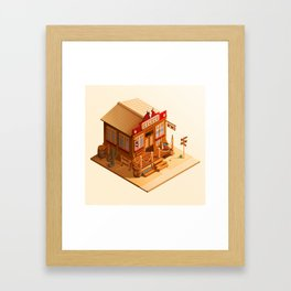 Western Saloon Framed Art Print