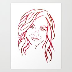 Red Portrait Art Print