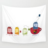 tea Wall Tapestries featuring tea by Emma Harckham