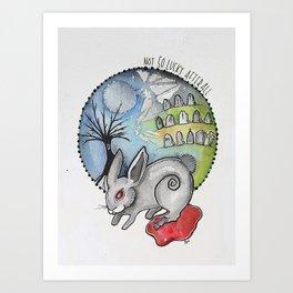 Not So Lucky Bunny Art Print