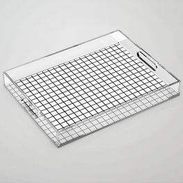 Black and White Grid Graph Acrylic Tray