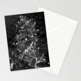 Shopping Cart Christmas Tree in Hollywood - day two b&w Stationery Cards