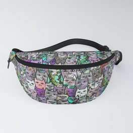 Gemstone Cats UltraViolet Green Palatte Fanny Pack