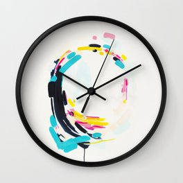 Yesterday to Tomorrow - abstract painting by Jen Sievers Wall Clock
