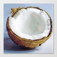 coconut wishes Canvas Prints featuring Coconut by Justin Yanke