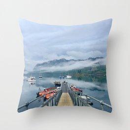 Loch Carron After a Rain Storm Throw Pillow