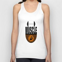 muscle Tank Tops featuring MUSCLE II by Robleedesigns
